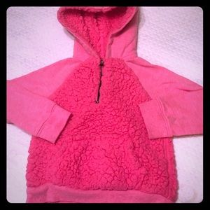 5/$15 Pink Hooded Fuzzy Pullover